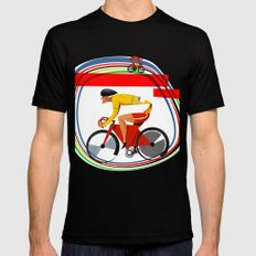 track racer cyclist MEDIUM Black Mens Fitted Tee