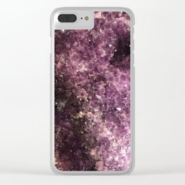 Amethyst Geode Clear iPhone Case