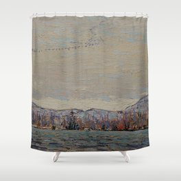 Tom Thomson - Wild Geese - Canada, Canadian Oil Painting - Group of Seven Shower Curtain