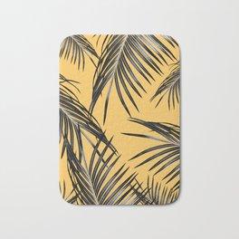 Black Palm Leaves Dream #6 #tropical #decor #art #society6 Bath Mat