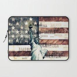 Vintage Patriotic American Liberty Laptop Sleeve