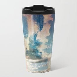 Spray Painting the Sunset Travel Mug