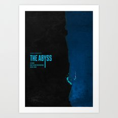 The Abyss (1989) - minimal poster Art Print