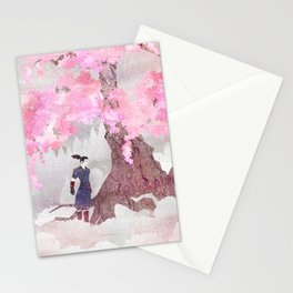 Tengami - Winter Cherry Tree (Portrait) Stationery Cards