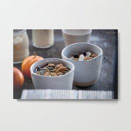 The Art of Food Nuts Nuts Metal Print