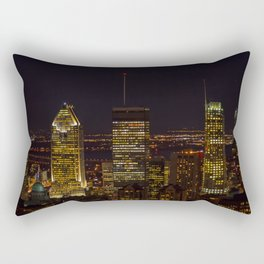 Montreal skyline at night in Quebec, Canada Rectangular Pillow