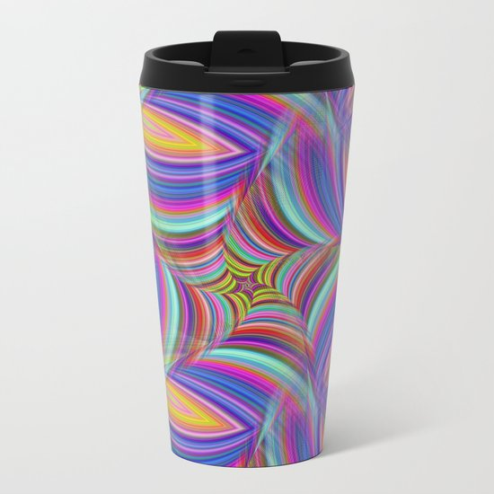 Psychedelic Metal Travel Mug