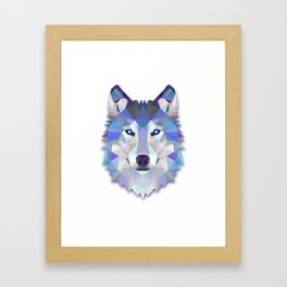 Colorful Wolf Framed Art Print