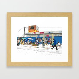 N1 to Dakar Framed Art Print