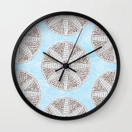 Santorini Mosaic Wall Clock
