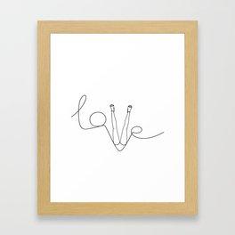 Man & LoveMe Framed Art Print
