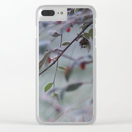 Frosty Hawthorn Clear iPhone Case