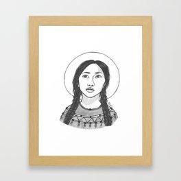 St. Kateri Tekakwitha Framed Art Print