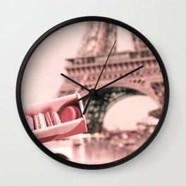 Paris in Blush Pink I Wall Clock