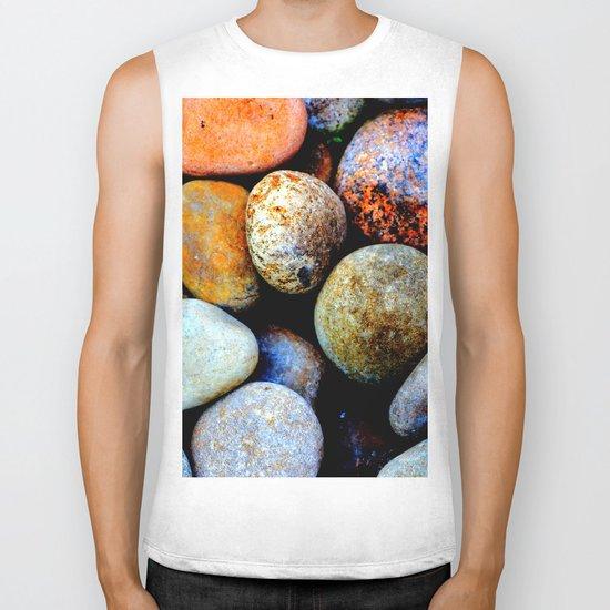 Like Pebbles on the Beach Biker Tank