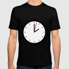 #33 Clock X-LARGE Mens Fitted Tee Black