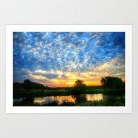 November East Texas Sunrise Art Print