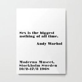 biggest nothing of all time Metal Print