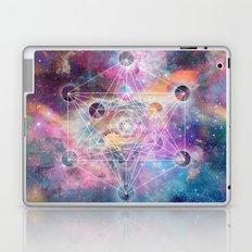Watercolor and nebula sacred geometry  Laptop & iPad Skin