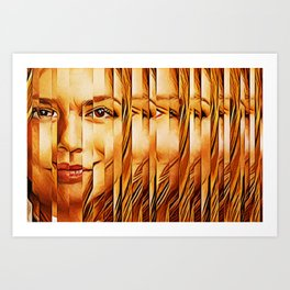 Golden Oranje Dutch Royalty Art Print