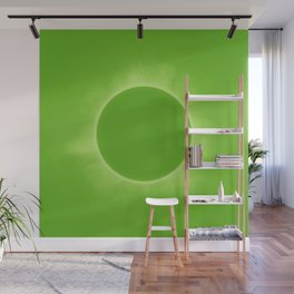 Solar Eclipse in Fresh Green Mint Colors Wall Mural
