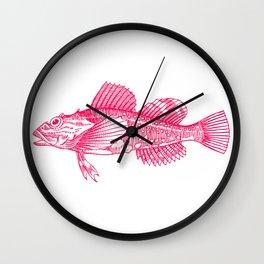Sculpin Fishy Wall Clock