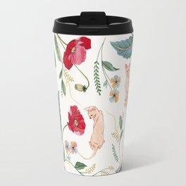 Ramona Poppy off-white Travel Mug