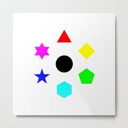 Seven Deadly Shapes Color Metal Print