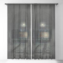 Mysterious trip Sheer Curtain