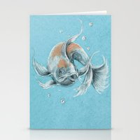koi fish Stationery Cards featuring Koi Fish by Daydreamer
