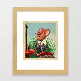Country Mouse Framed Art Print