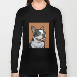 Snoopy the Boston Terrier Long Sleeve T-shirt