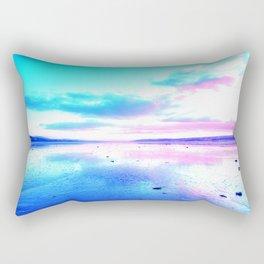 Bright Sunset Beach Rectangular Pillow