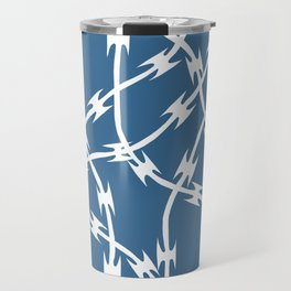 Blue Barb Travel Mug
