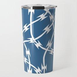Blue Barb Travel Mug