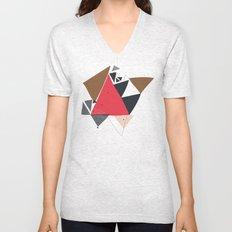 Exploding Triangles//Two Unisex V-Neck
