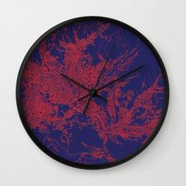 La Paz, Bolivia, Blue, White, City, Map Wall Clock