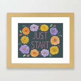 Just Start Framed Art Print