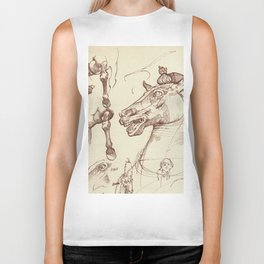 Leonardo Da Vinci, The Four Horses of Apollo Biker Tank