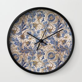Aged Pomegranate Pattern Wall Clock