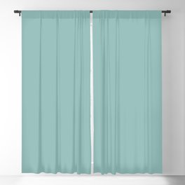 Ice Blue Solid Blackout Curtain