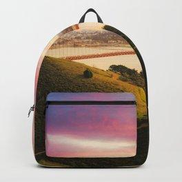 Golden Gate Bridge | San Francisco California Landscape Sunset Travel Photography Backpack