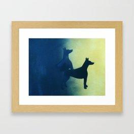 Dogs Do Hump Framed Art Print