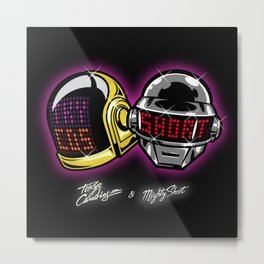 The helmets Metal Print