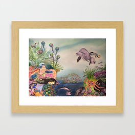 Journey Under the Sea by Maureen Donovan Framed Art Print