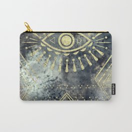 Evil Eye Gold Carry-All Pouch