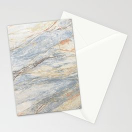 Light Blue Mountain Marble Stationery Cards