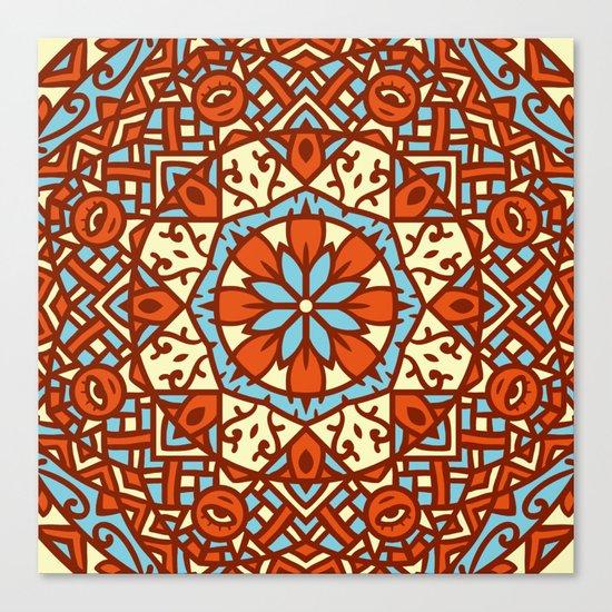 Abstract Mandala Flower Decoration 30 Canvas Print