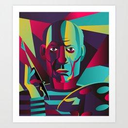 great spanish colorful portrait painter Art Print