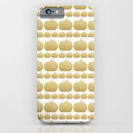 Gold Glitter Pumpkin iPhone Case